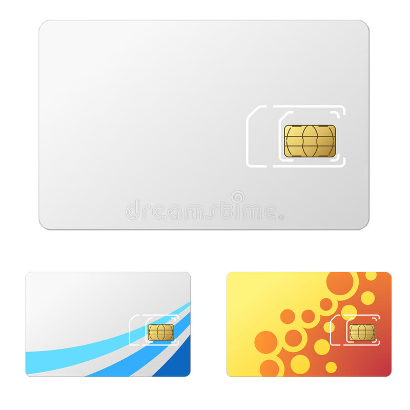 Leere weiße neue SIM-Karte vektor abbildung