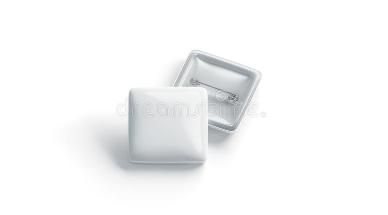 Leere weiße Quadratausweisstapelmodell-, vordere und Rückseite, lizenzfreie abbildung