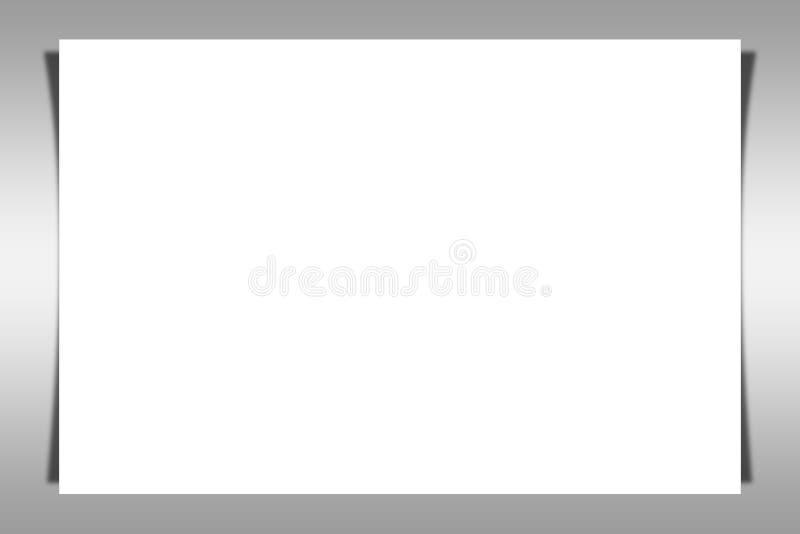 Leere weiße Rotationseite - copyspace für Ihren Text vektor abbildung