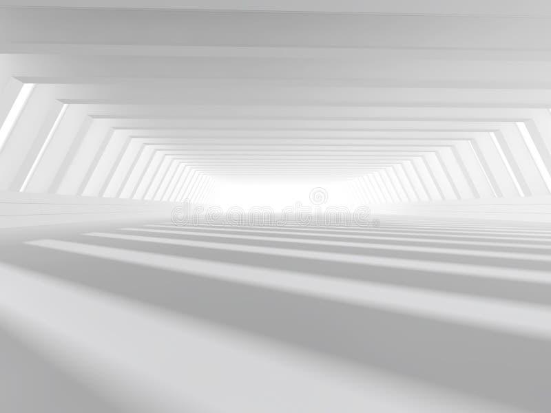 Leere weiße Wiedergabe des offenen Raumes 3D lizenzfreie abbildung