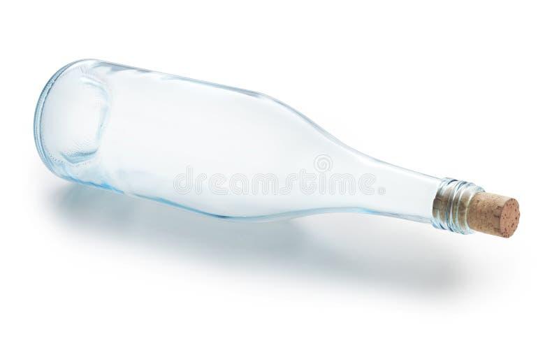 Leere Weinflasche lizenzfreie stockfotografie