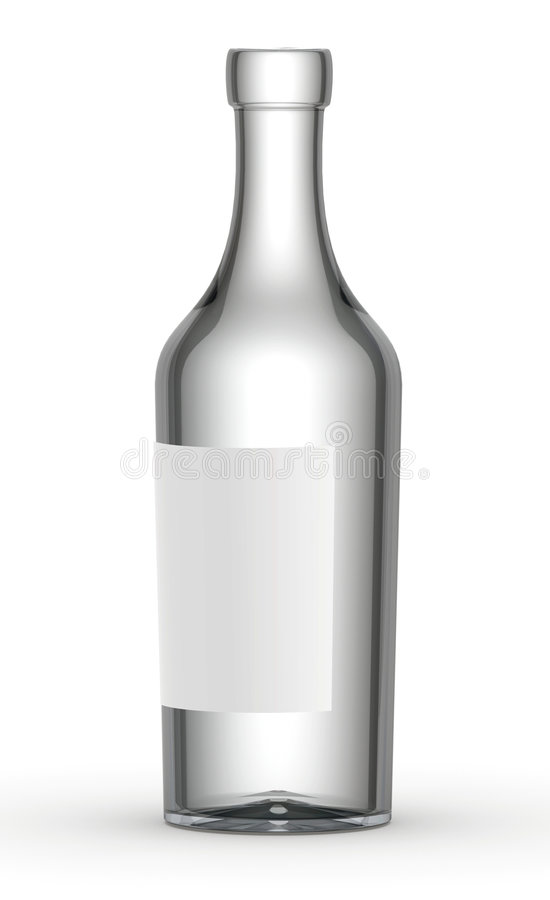 Leere Weinflasche lizenzfreie abbildung