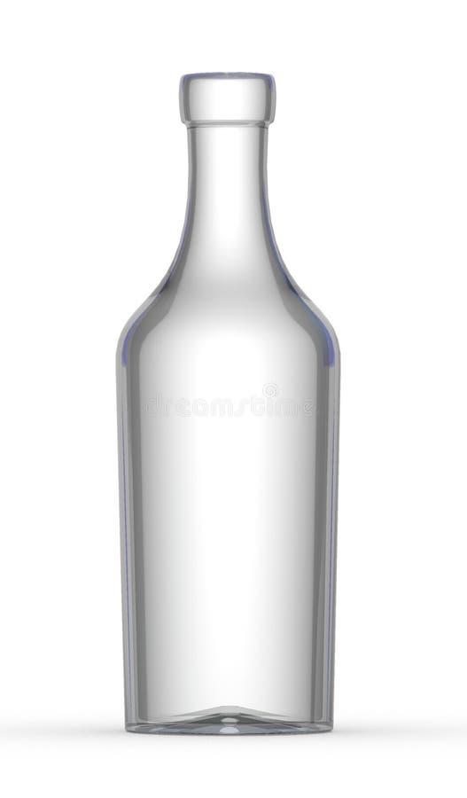 Leere Weinflasche stock abbildung