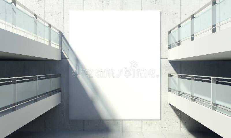 Leere Werbungs-Anschlagtafel, modernes Bürohaus lizenzfreies stockbild