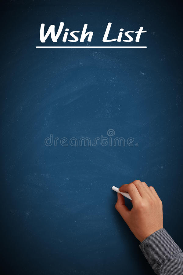 Leere Wunschliste lizenzfreies stockfoto