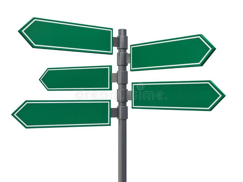 Leere Zeichen, die in entgegengesetzte Richtungen zeigen 3d lizenzfreie abbildung