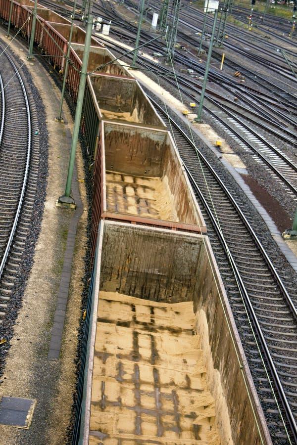 Leeren Sie Bahnautos für Transport der Bulkladung lizenzfreie stockfotografie