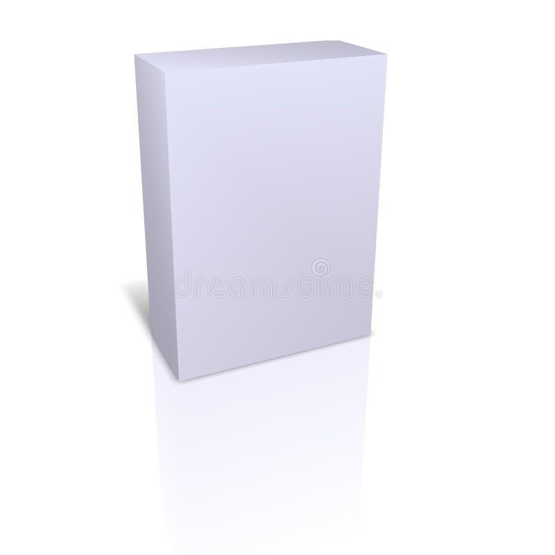 Leeren Sie den Kasten, der im weißen Hintergrund getrennt wird lizenzfreie abbildung