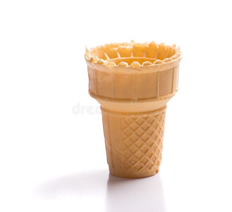 Leeren Sie Eiscreme-Kegel lizenzfreie stockbilder
