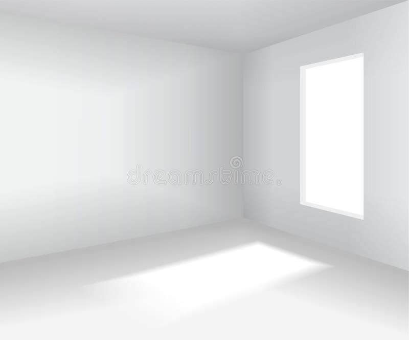 Leeren Sie weißen Raum leere Innenillustration des vektors 3d vektor abbildung