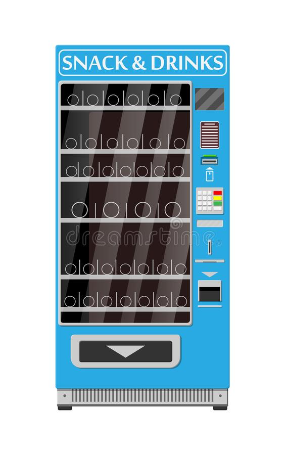 Leerer automatischer Automat lizenzfreie abbildung