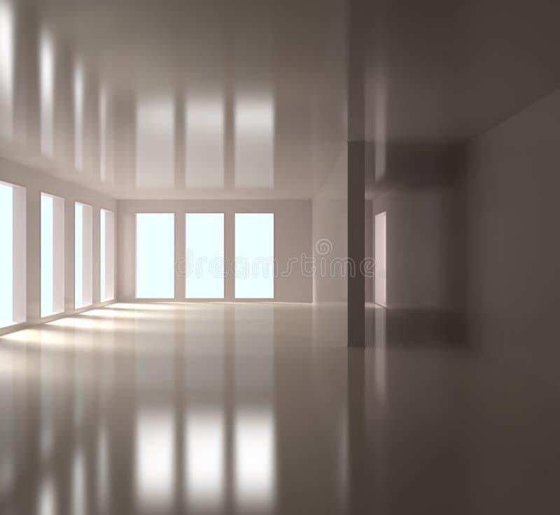 Leerer Büro-Innenraum stock abbildung