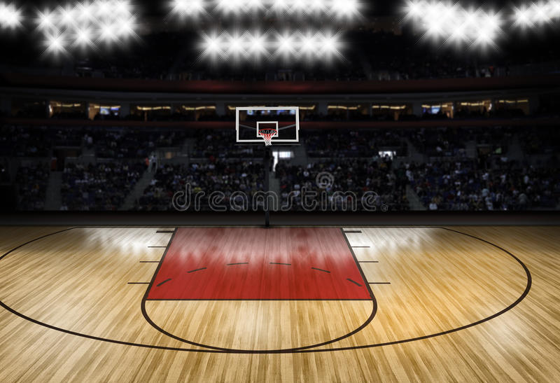 Download Leerer Basketballplatz - Sport-Thema Stockbild - Bild von stadium, team: 64707487