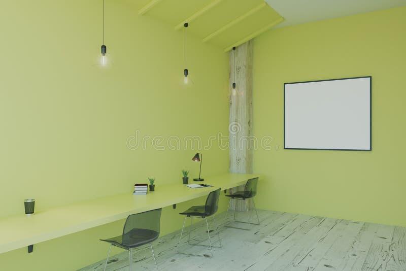 Leerer Bilderrahmen auf grüner Wand vektor abbildung