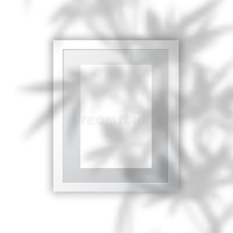 Leerer Bilderrahmen mit Betriebsschattenüberlagerung lizenzfreie abbildung