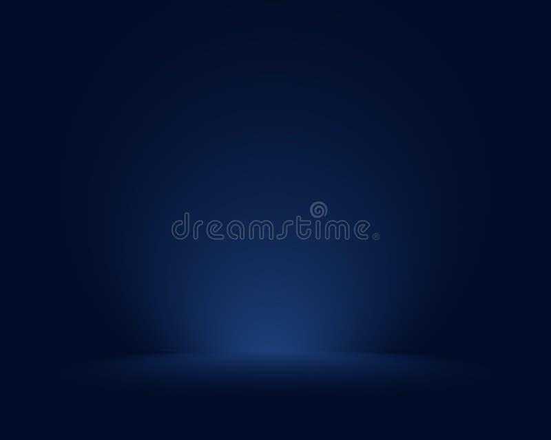 Leerer blauer Studioraum, als Hintergrund für Anzeige Ihre Produkte benutzt - Vektor stock abbildung