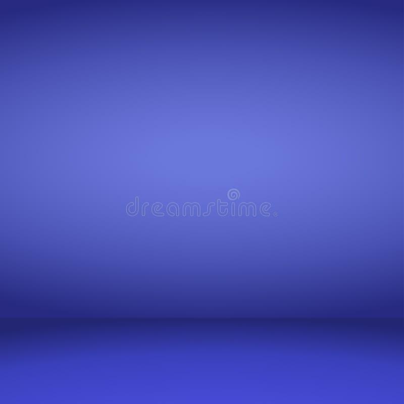Leerer blauer Studioraumhintergrund Auch im corel abgehobenen Betrag vektor abbildung