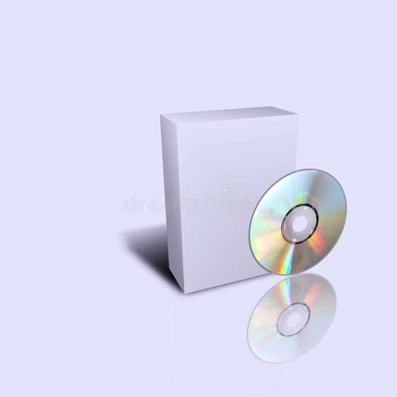 Leerer cd Kasten getrennt im grauen Hintergrund stock abbildung