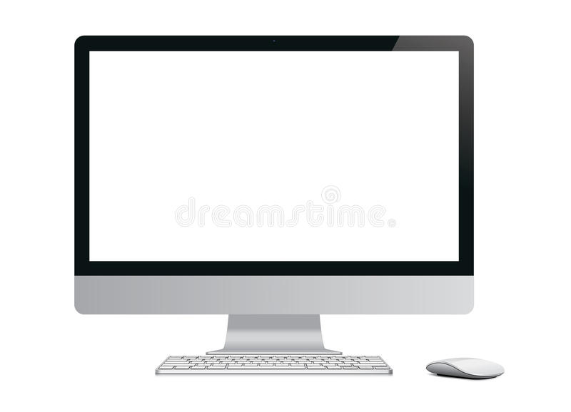 Leerer Computer stock abbildung