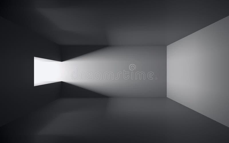 Leerer dunkler Raum stock abbildung
