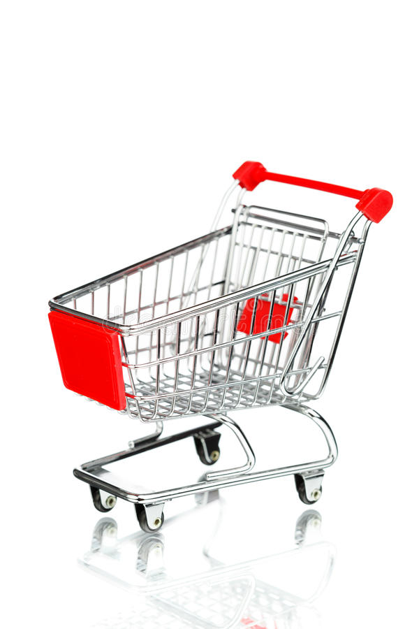 Leerer Einkaufswagen stockbilder