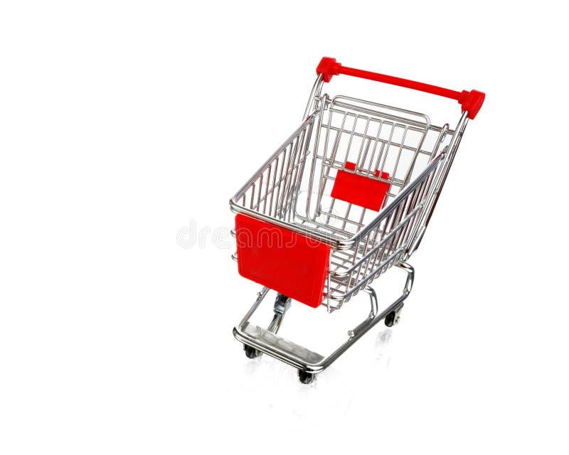 Leerer Einkaufswagen stockbild