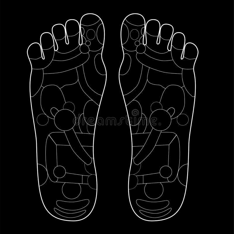 Leerer Entwurf von Akupunktur - traditionelle Alternative heilen stock abbildung