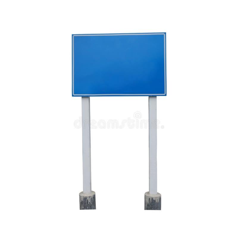 Leerer Führerposten oder Verkehrszeichen lokalisiert auf weißem Hintergrund lizenzfreie stockbilder