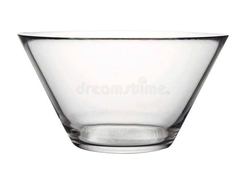 Leerer Glasteller lokalisiert auf weißem Hintergrund stockfotos