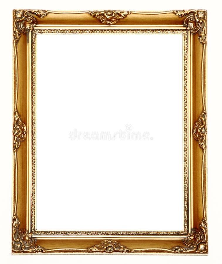 Leerer Goldbilderrahmen lizenzfreie stockbilder