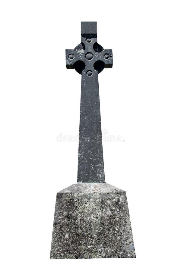 Leerer Grabstein lokalisiert auf dem weißen Hintergrund bereit zur Aufschrift lizenzfreies stockfoto