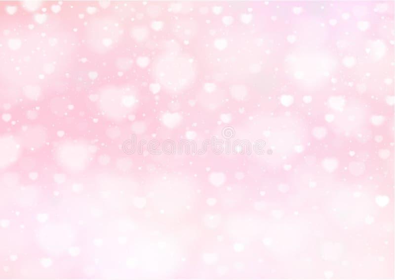 Leerer Hintergrund PrintLight mit bokeh Herzen Rosa Vektor-Hintergrund lizenzfreie abbildung