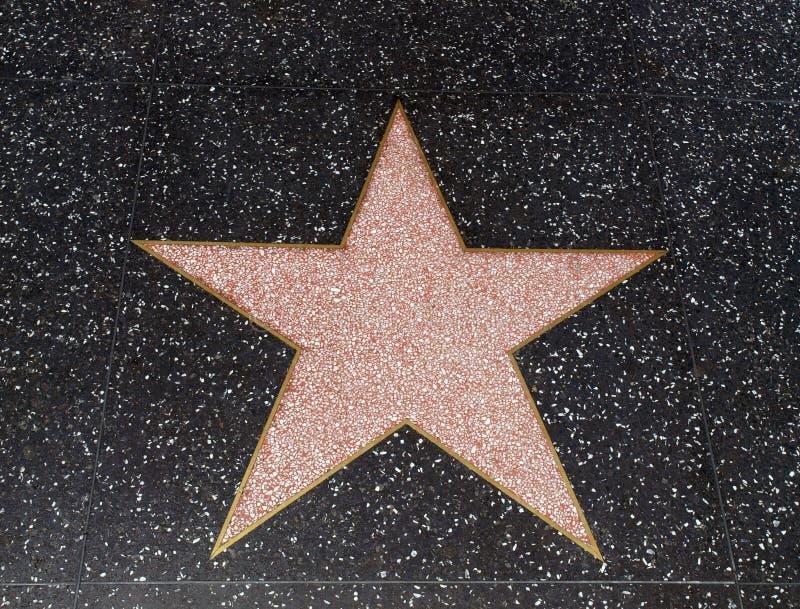 Leerer Hollywood-Star lizenzfreie stockfotos