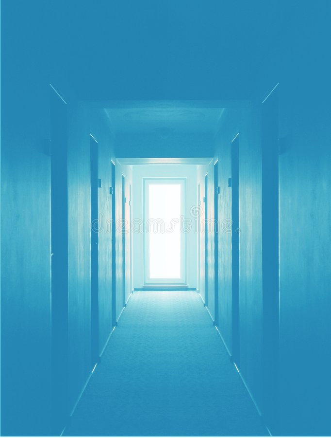 Leerer Hotelfußboden - Blau vektor abbildung