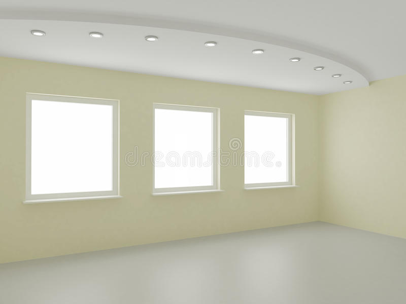 Leerer Innen-, neuer Raum, Büro oder Wohn vektor abbildung