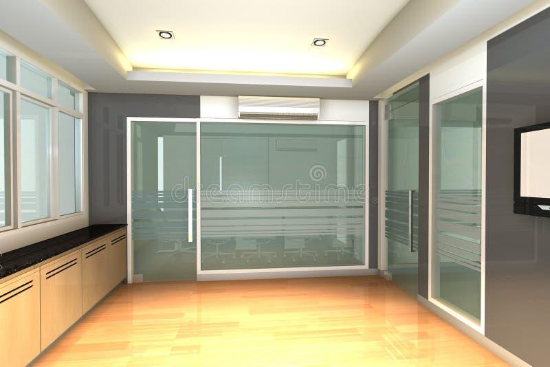 Leerer Innenraum für modernes Geschäftslokal lizenzfreie abbildung