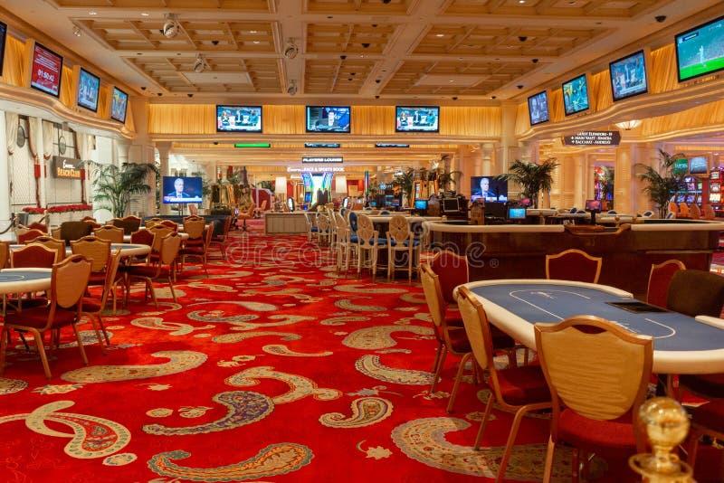 Leerer Kasino-Schürhaken verlegt Wynn Las Vegas lizenzfreies stockfoto