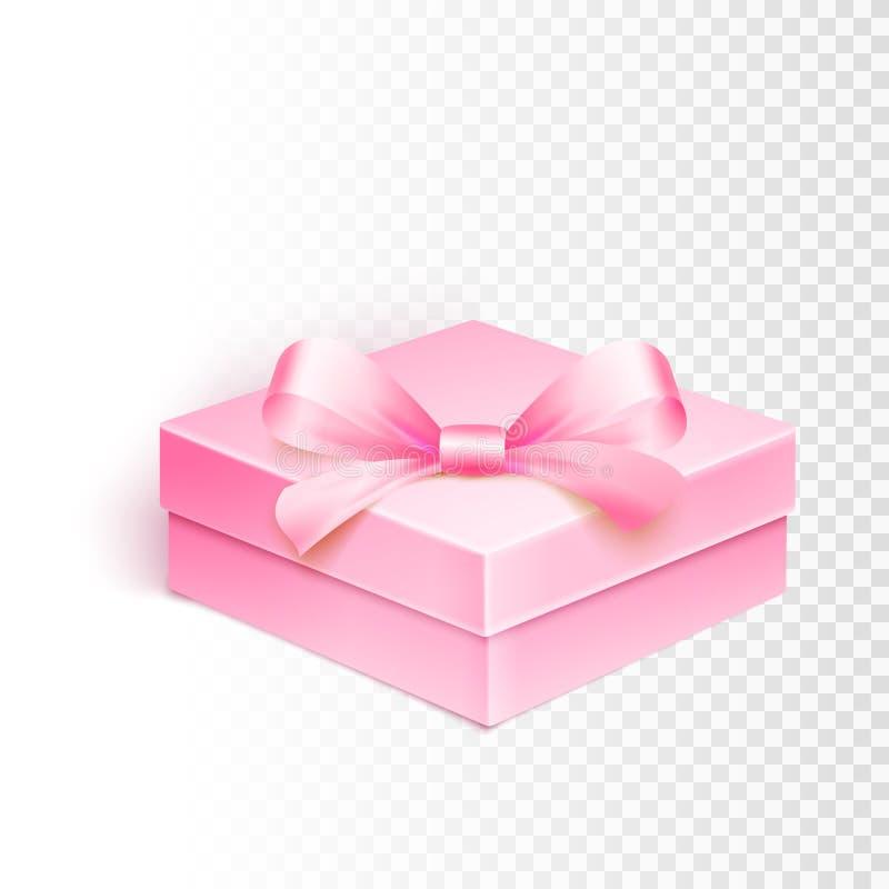 Leerer Kasten über weißem Hintergrund stock abbildung