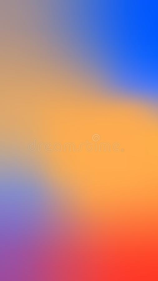 Leerer klarer Farbhintergrund Unscharfe spektrale abstrakte bunte Beschaffenheit stock abbildung