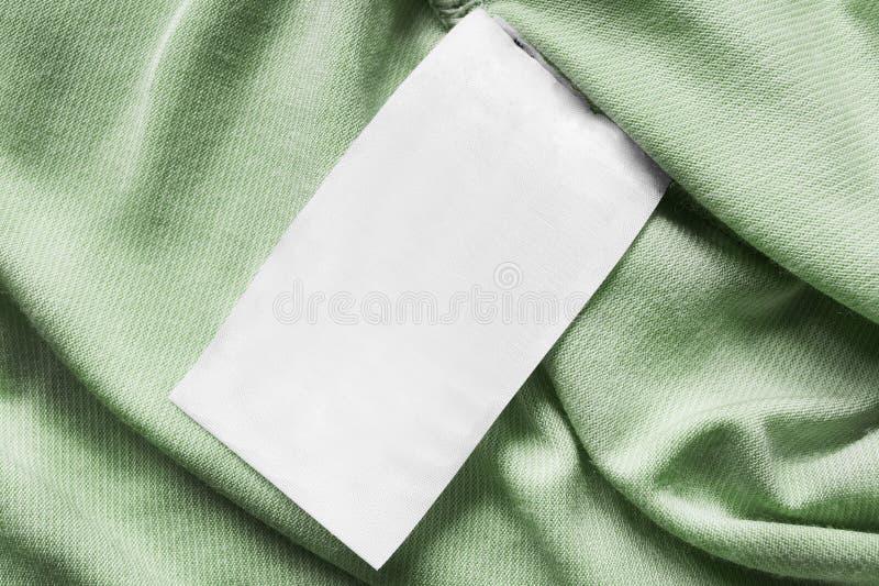 Leerer Kleidungsaufkleber stockbilder