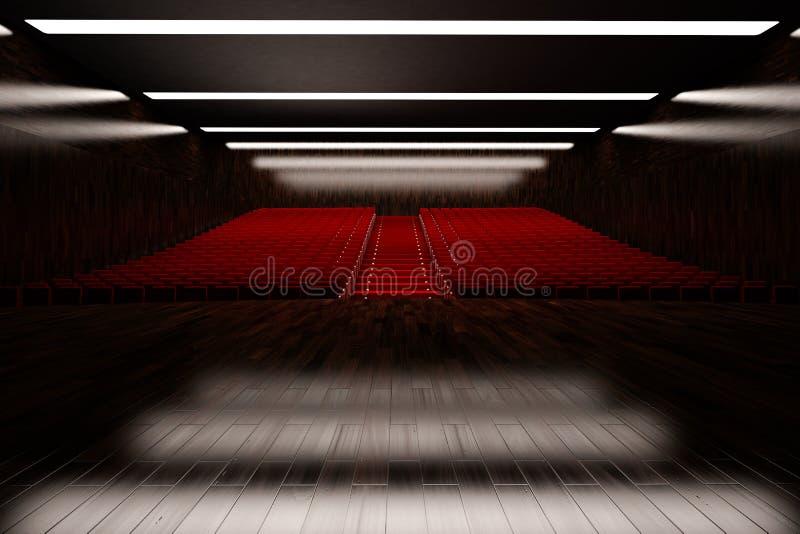 Leerer Konzertsaal lizenzfreie abbildung