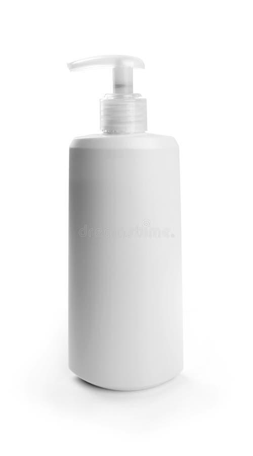 Leerer kosmetischer Behälter lokalisiert auf Weiß lizenzfreie stockfotografie