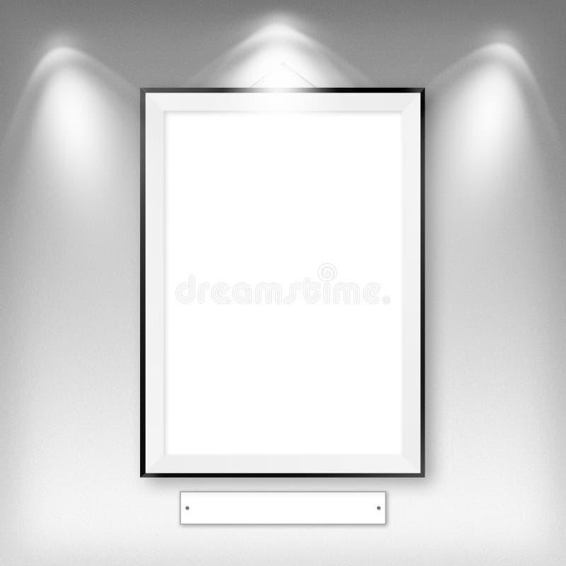Leerer leerer weißer Rahmen stock abbildung