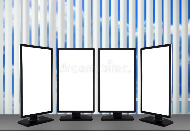 Leerer Monitor vier lizenzfreie abbildung
