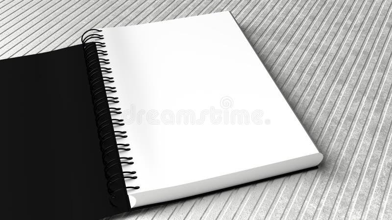 Leerer Notizblock mit weißem Hintergrund stockbild