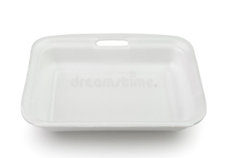 Leerer Plastiklebensmittelpolystyrenbehälter lizenzfreies stockbild