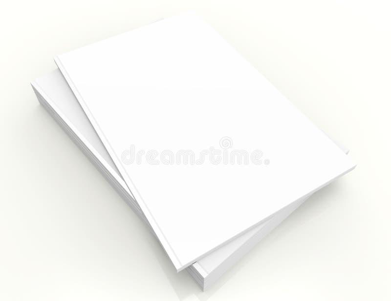Leerer quadratischer Katalogspott oben auf Weiß stock abbildung