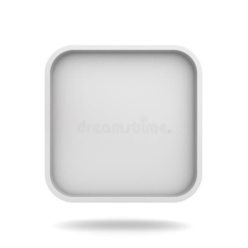 Leerer Quadratischer Rahmen Oder Weißer Netzknopf über Weißem ...