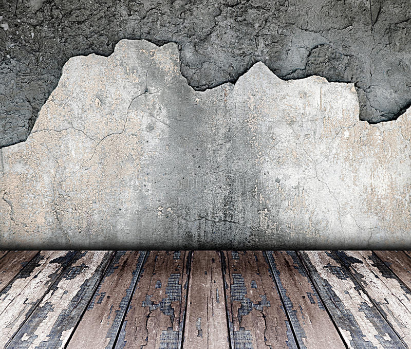 Leerer Raum der Weinlese stock abbildung