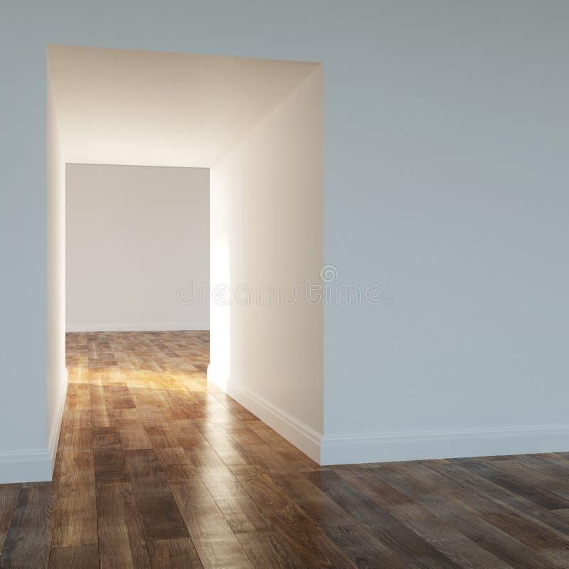 Leerer Raum in einem modernen Haus lizenzfreie stockbilder
